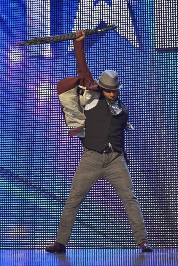 Tap dancer Joseph Hall